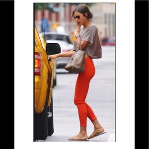 AG Size 26 Burnt orange stretch jeans